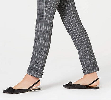 J.Jill plaid cuffed pants on A Well Styled Life
