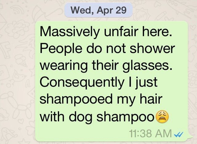 Do You Shower in Your Eyeglasses?