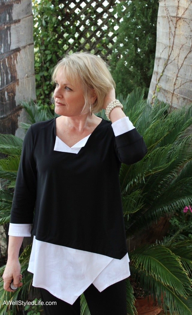 Asymmetrical lines bump up the drama on this Haven top by Porto.