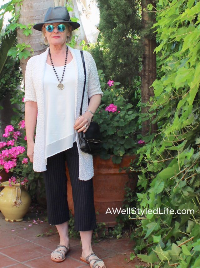 Stella Carakasi tunic with Porto Travelers pant from Artful home make a casually elegant statement.