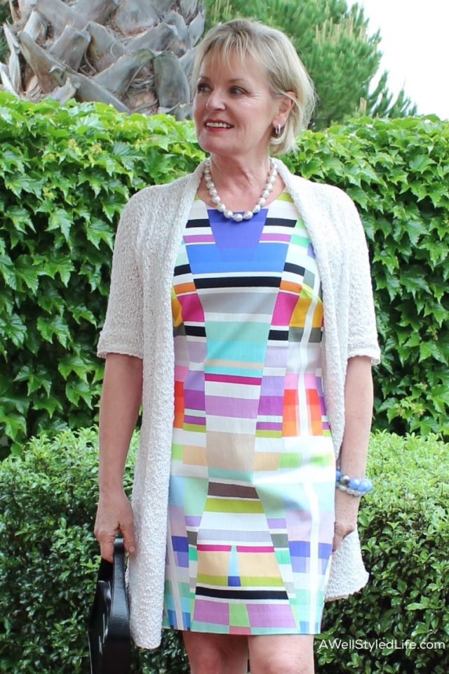 Wearing dresses means there's no need to coordinate your top and bottom, bypasses that trouble spot, your middle, and adds instant polish.