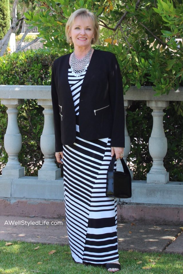 Easy wearing knits and clean lines in this resort casual look from Chico's