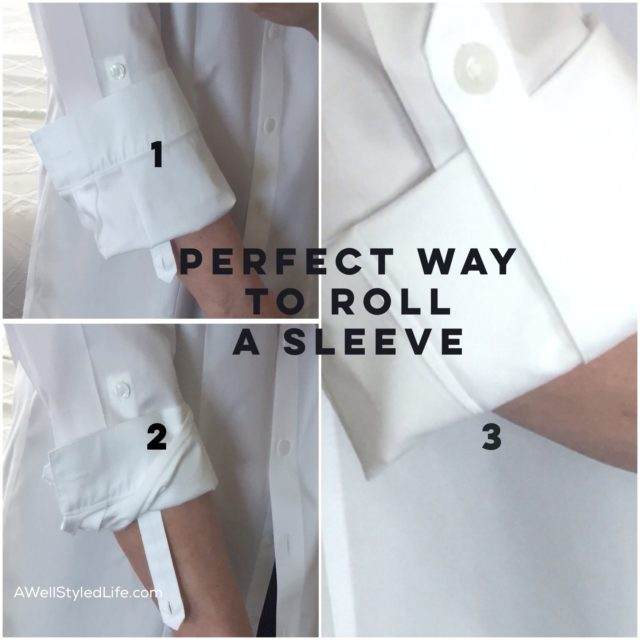 The perfect way to roll your sleeves