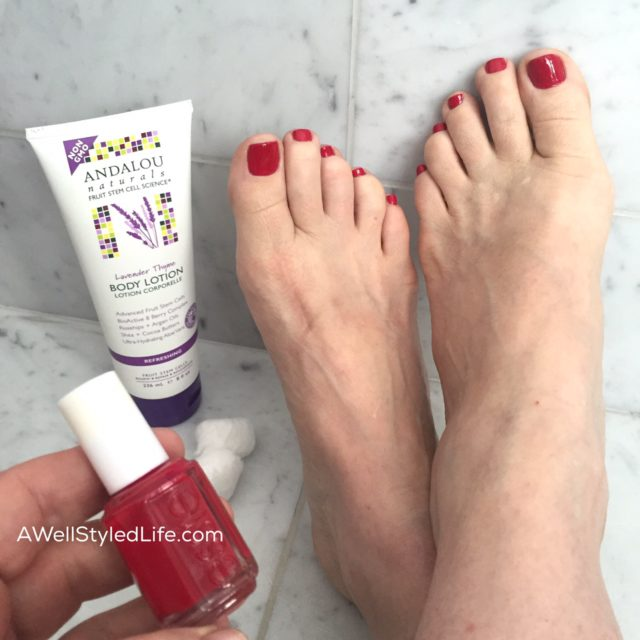 pedicures in classic red