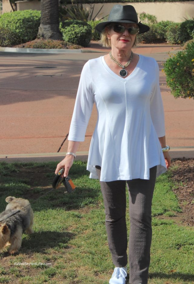 tunic length A-lind top and leggings
