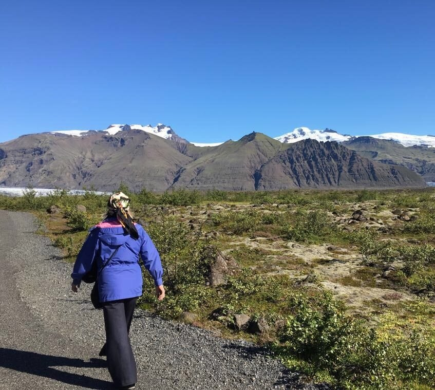 Jennifer Connolly of A Well Styled Life hiking in Iceland