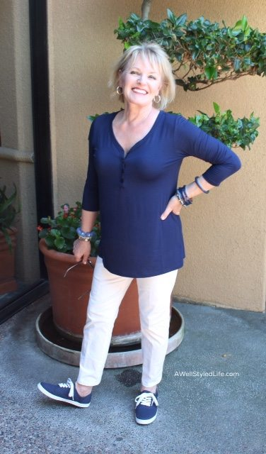 navy henley by Covered Perfectly