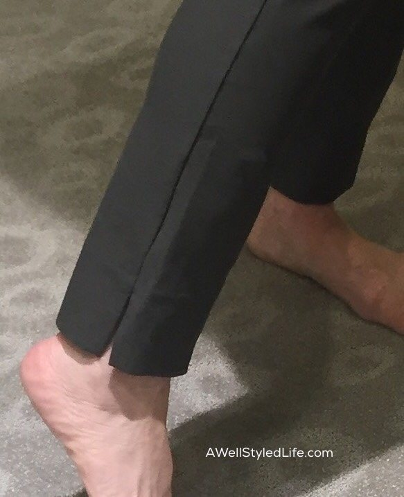 Eileen Fisher washable crepe slim pants in Oregano color