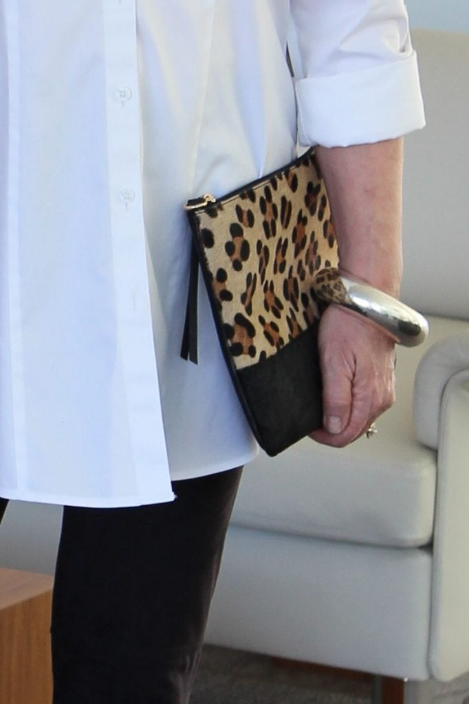 Chico's Kathleen Leopard handbag