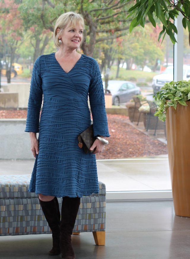 Carol Turners Fiore Surplice dress from Artful Home