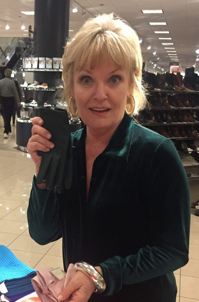 shopping for leather gloves