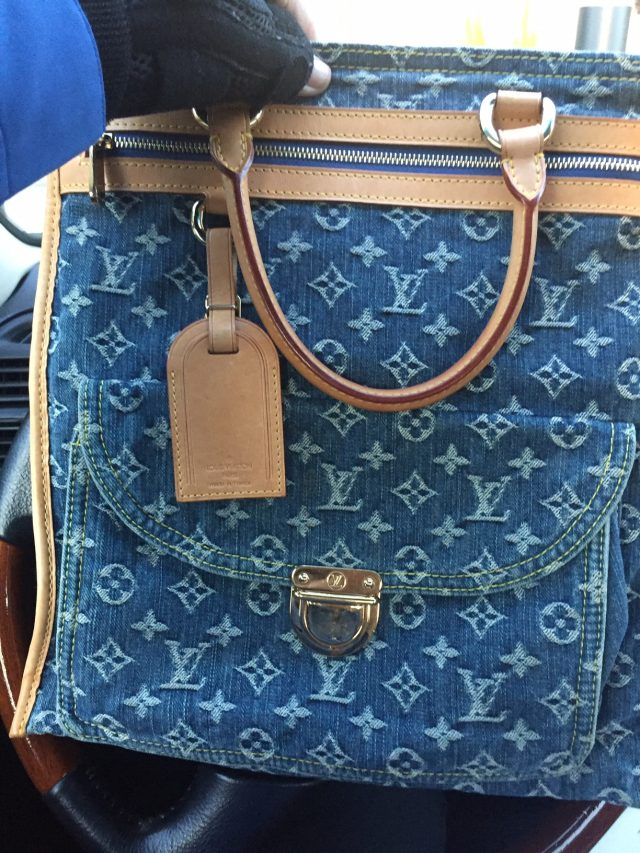 Louis Vuitton Monogram denim at The Real Real