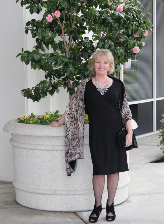 dressing up the classic little black dress