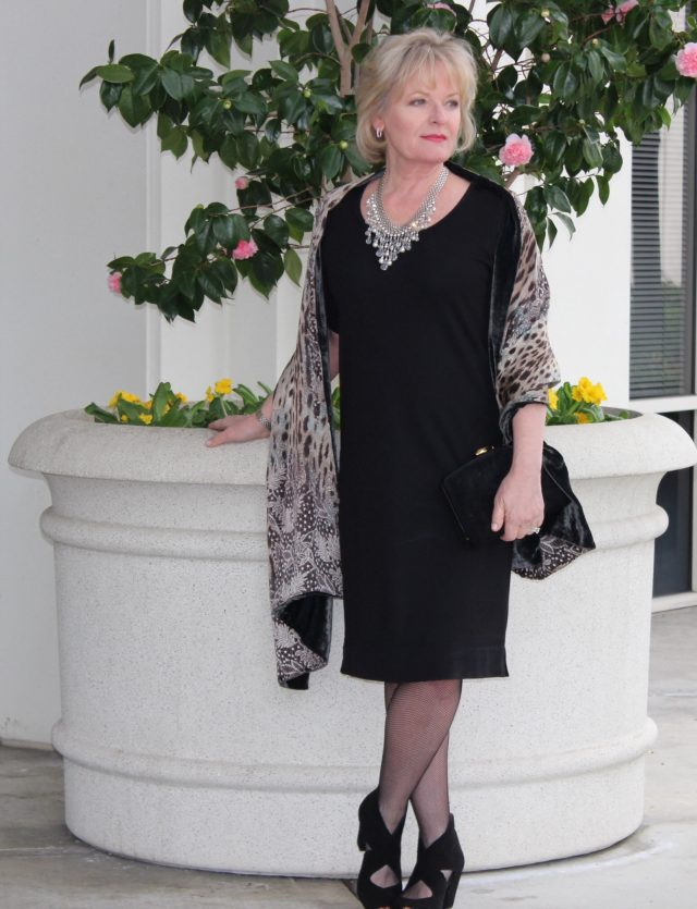 dressing up a classic little black dress for women over 50