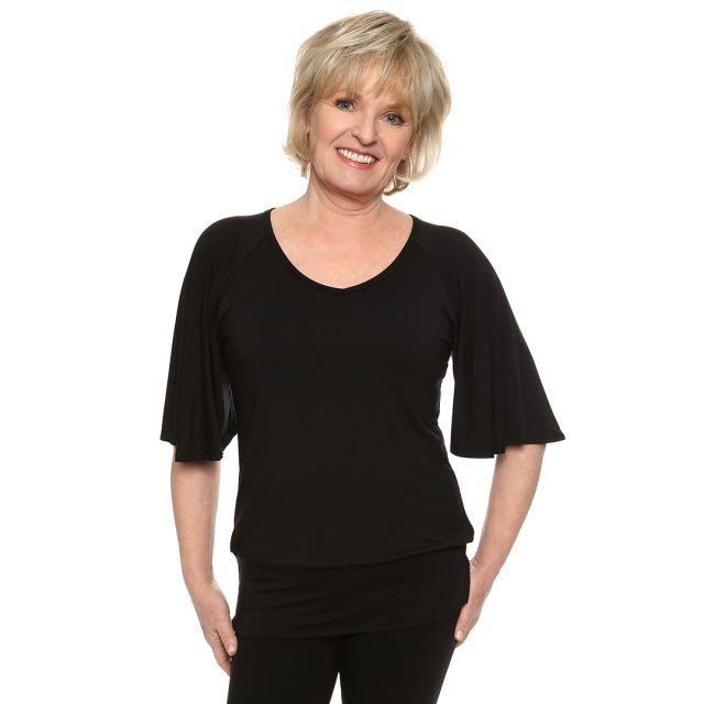 bell sleeve V-Neck top from Covered Perfectly