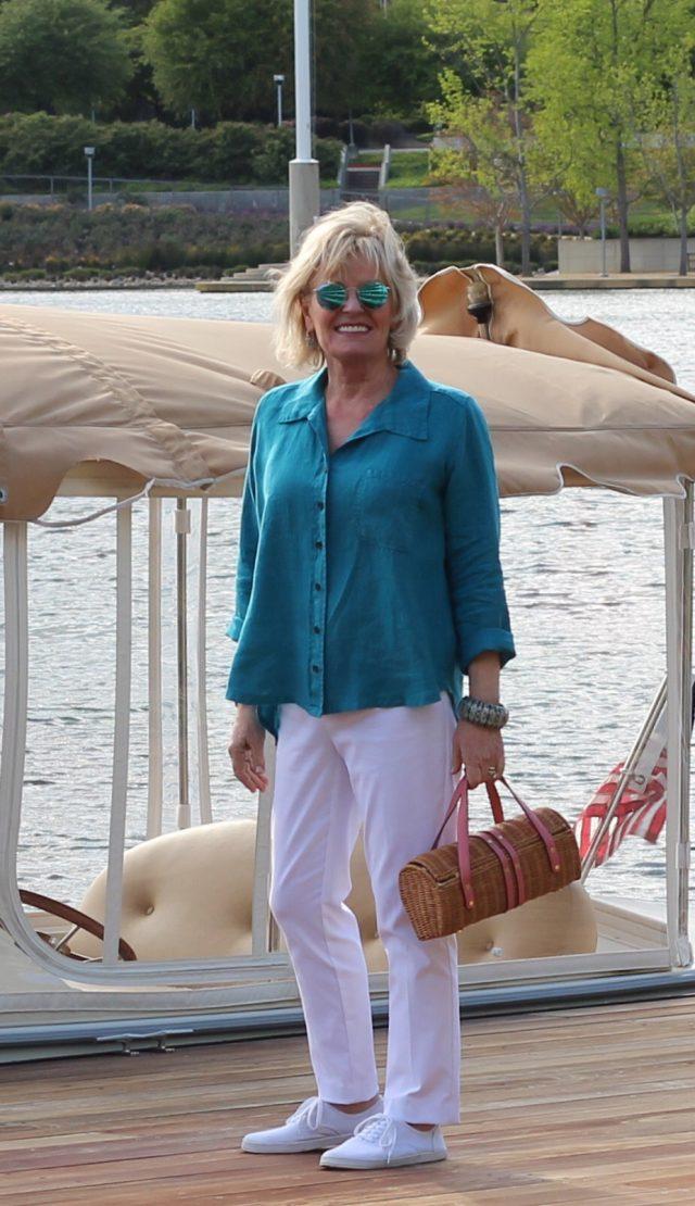 dockside wearing Lisa Bayne