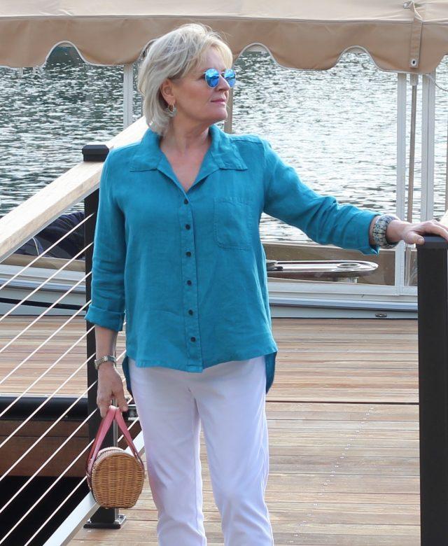 linen shirt by Lisa Bayne from Artful Home