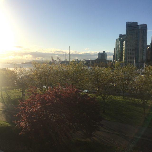 sunrise in Vancouver
