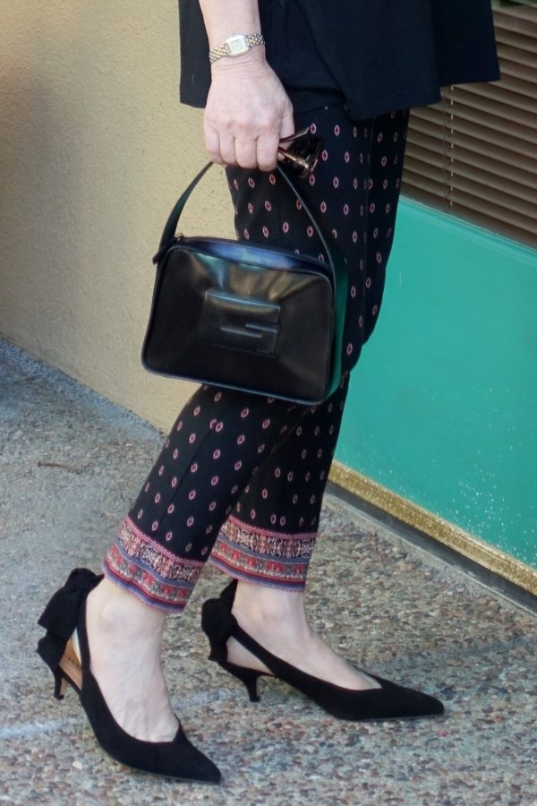 kitten heels worn by Jennifer Connolly of A Well Styled Life