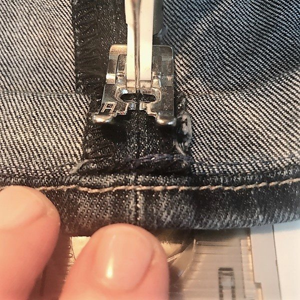 sewing jeans on AWSL