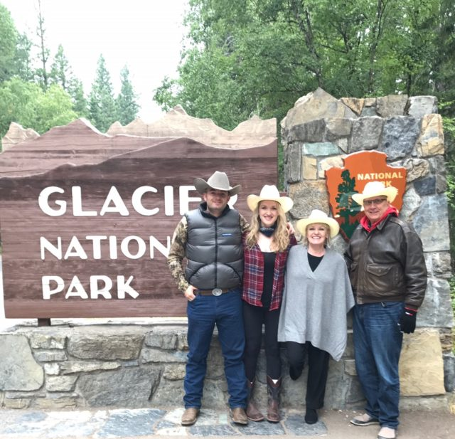 enjoying Glacier national Park