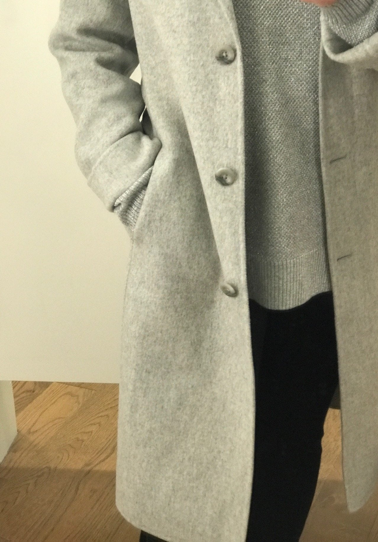Jennifer Connolly of A Well Styled Life wearing Gap wool coat