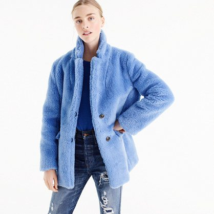 Teddy Plush coat from J. Crew on A Well Styled Life