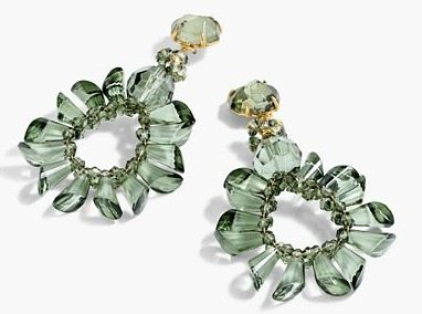 J. Crew wreath earrings on A Well Styled Life
