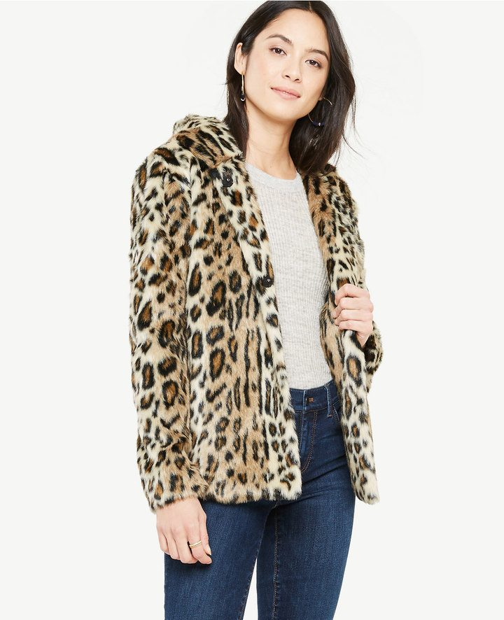 Ann Tayler leopard jacket on A Well Styled Life