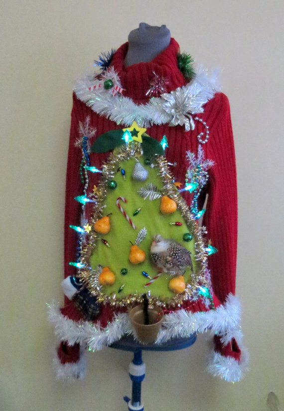 made to order Ugly Pear Tress Christmas Sweater on A Well Styled Life