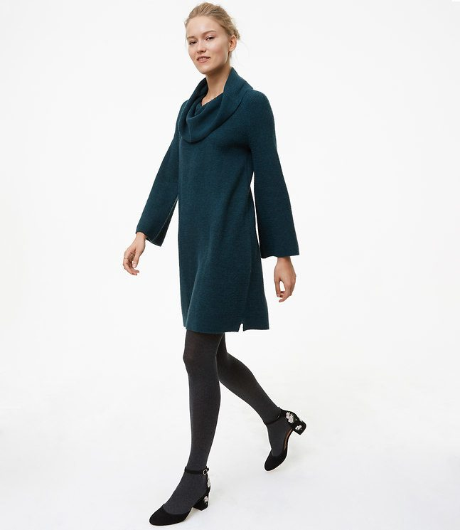 Sweater dress from the Loft on A Well Styled Life