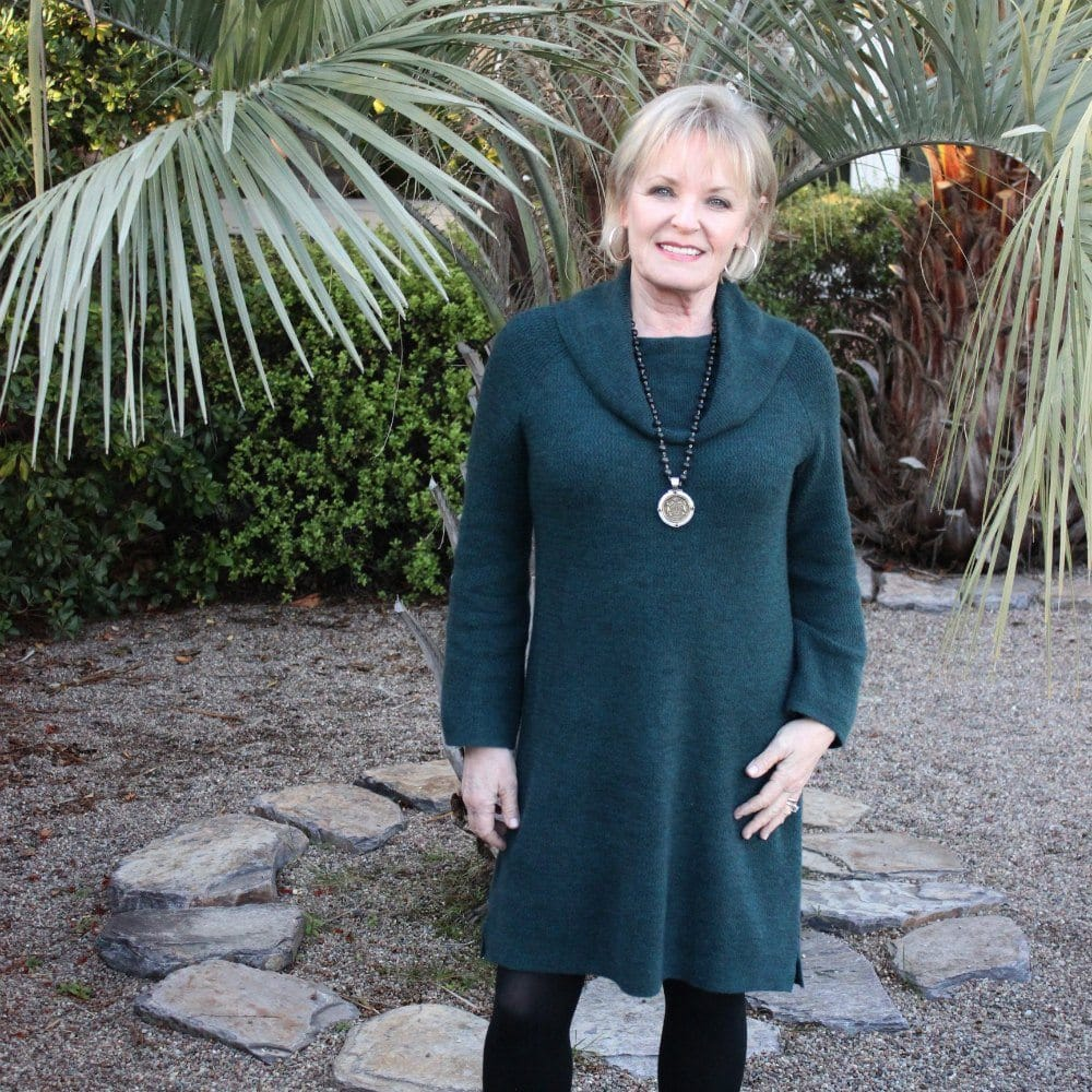 How to Style a Sweater Dress Over 50