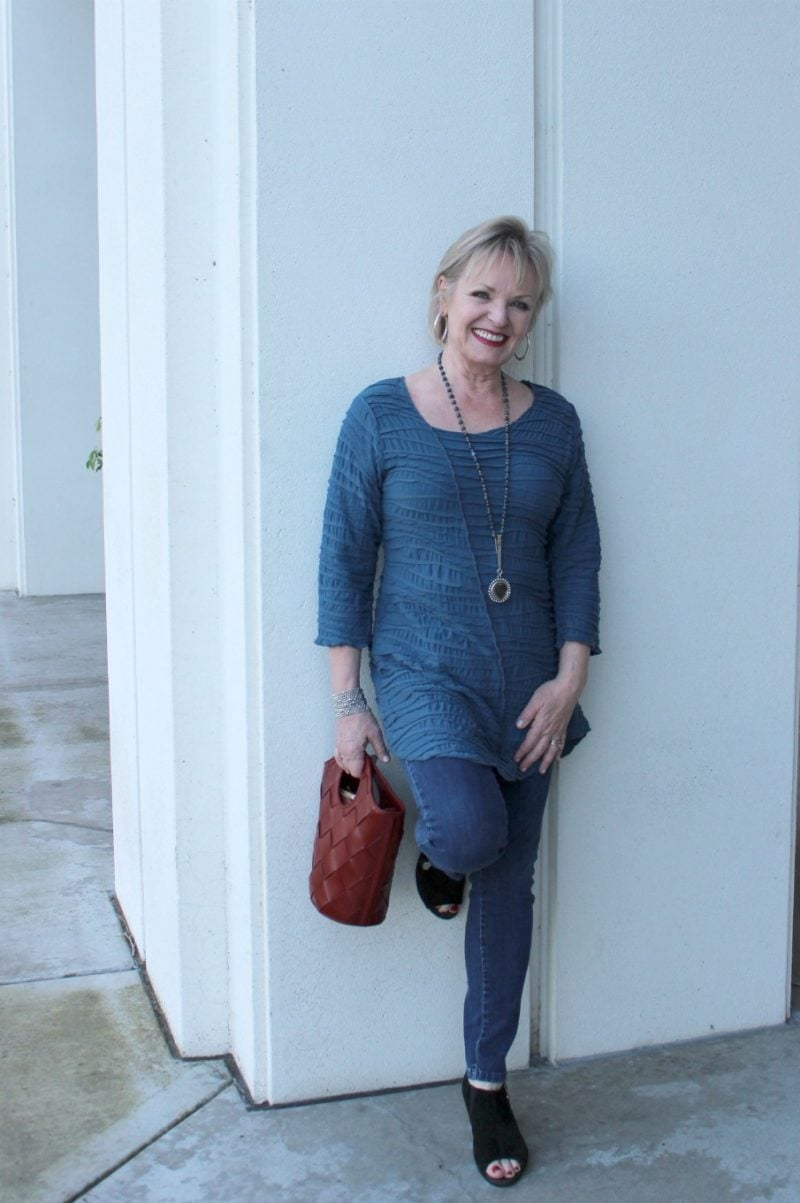 Jennifer Connolly of A Well Styled Life wearing Fiore top from Artful Home