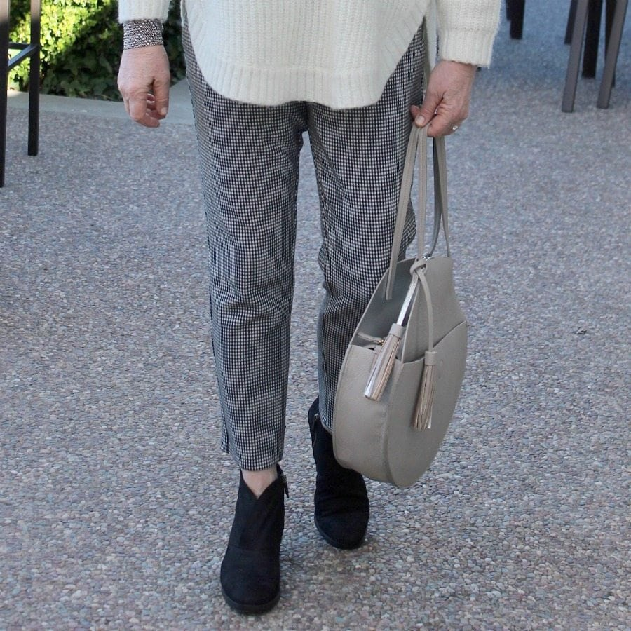 Jennifer Connolly of A Well Styled Life wearing Eileen Fisher Booties