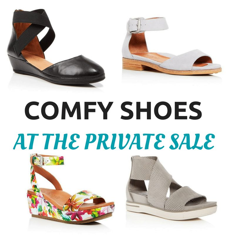 My Picks for Comfy Shoes at The Private Sale