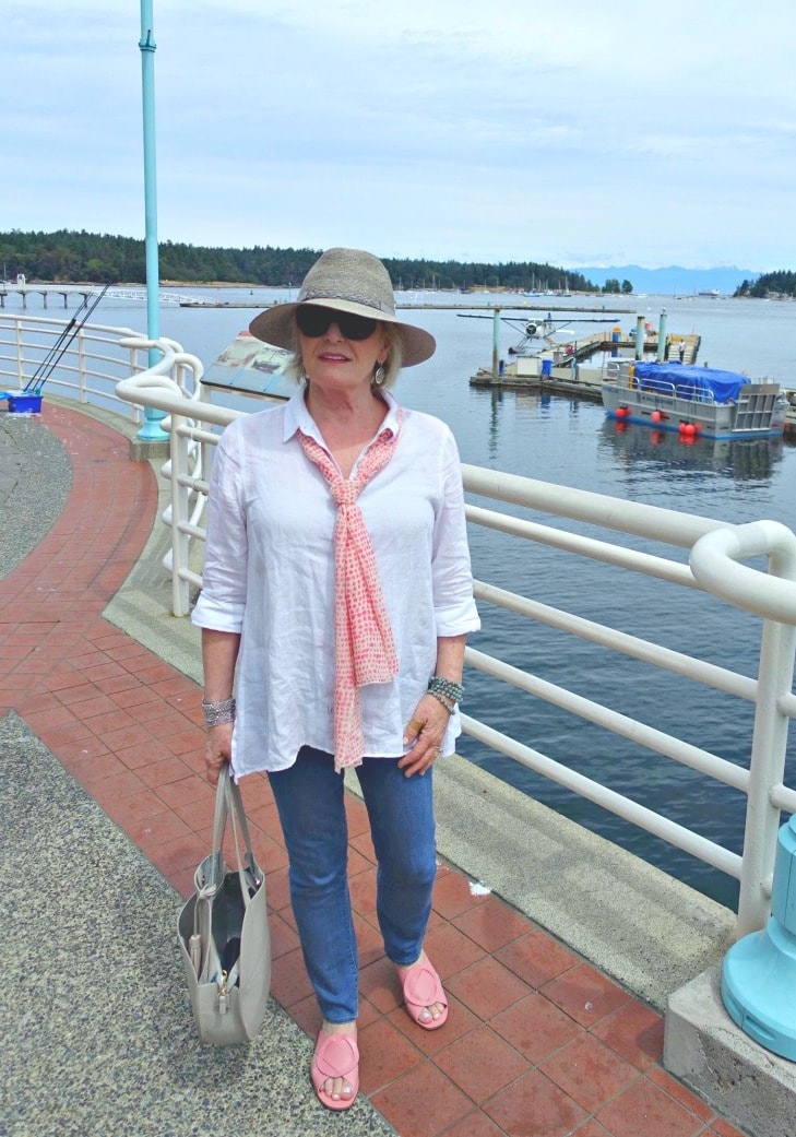 Jennifer Connolly of A Well Styled Life at dragon Boat races in Nanaimo, BC
