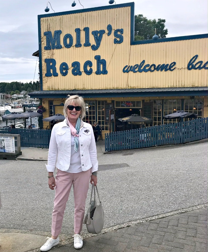 Jennifer Connolly of A Well Styled Life at Molly's Reach in Gibsons, BC