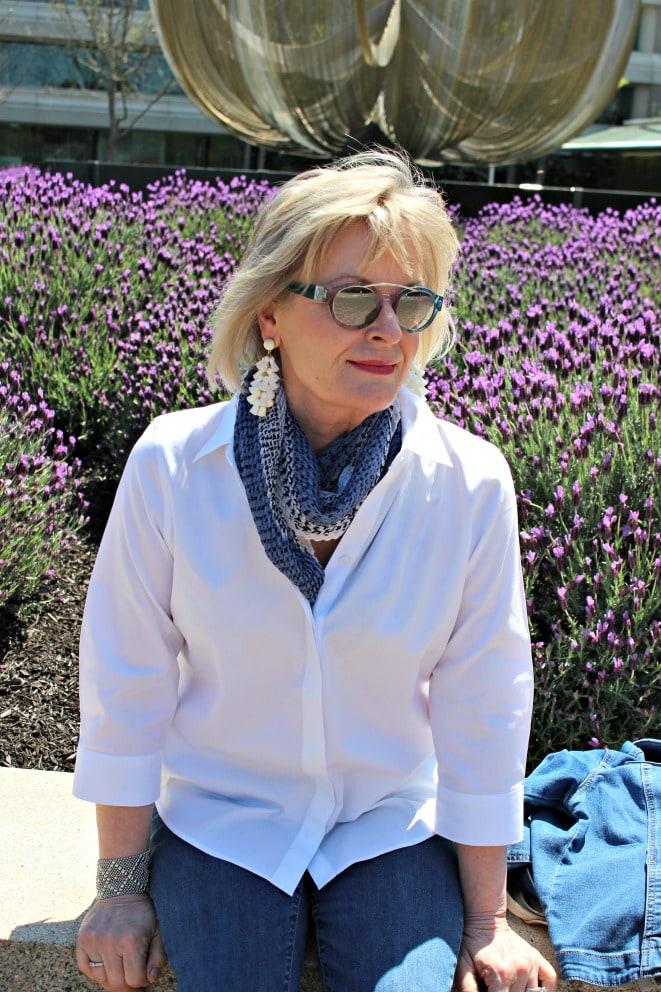 Jennifer Connolly of A Well Styled Life wearing tassel earrings