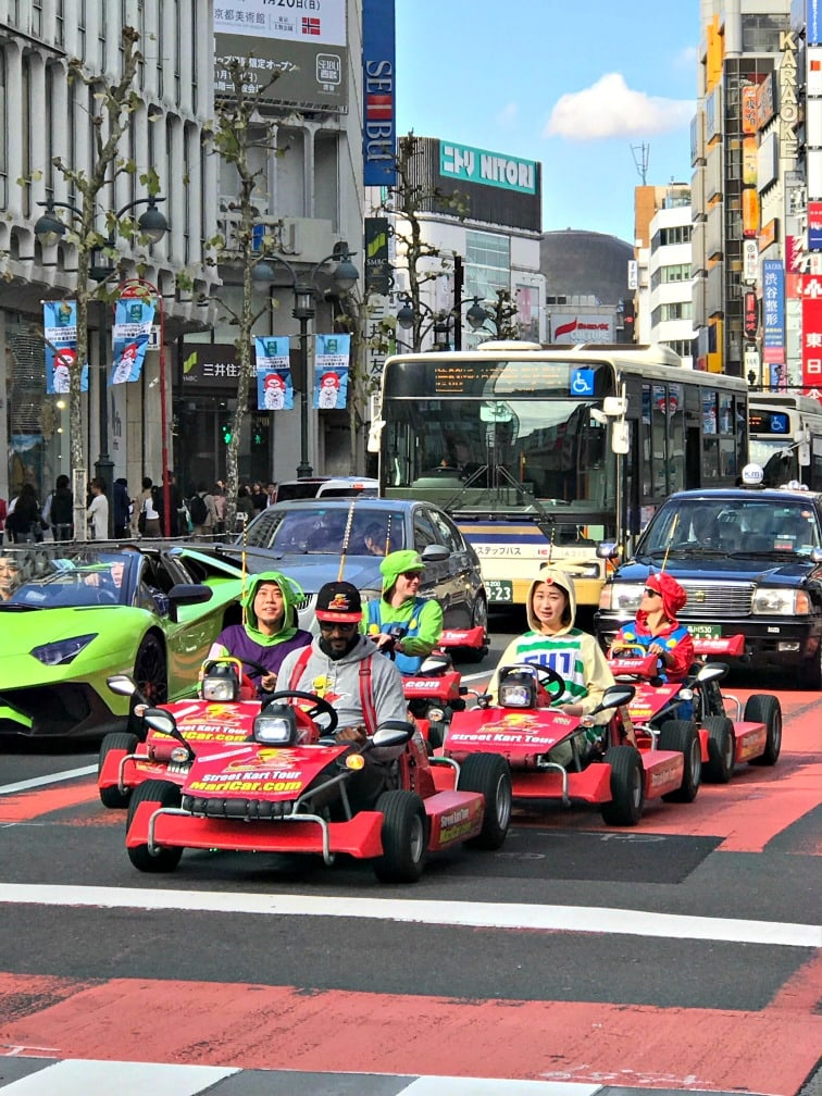 go carts driving in Tokyo
