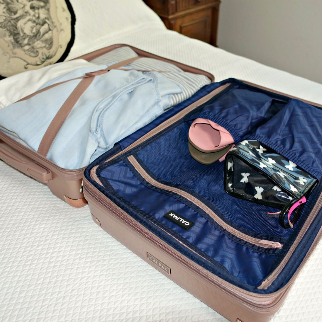 """Packing a Calpak 20"""" spinner on A Well Styled Life"""