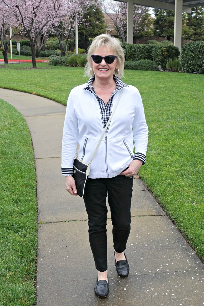 Jennifer Connolly of A Well Styled Life wearing O, The Oprah Magazine collection for Talbots