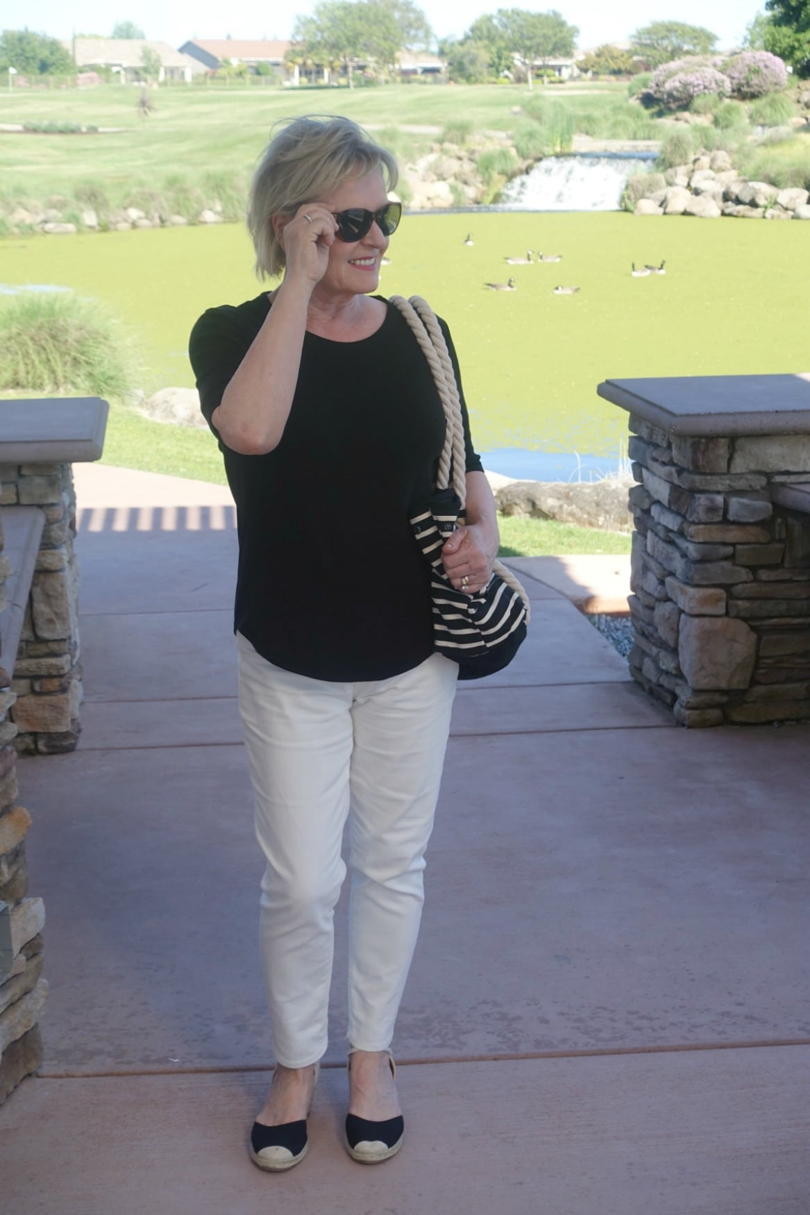Casual Outfit in Black and Cream