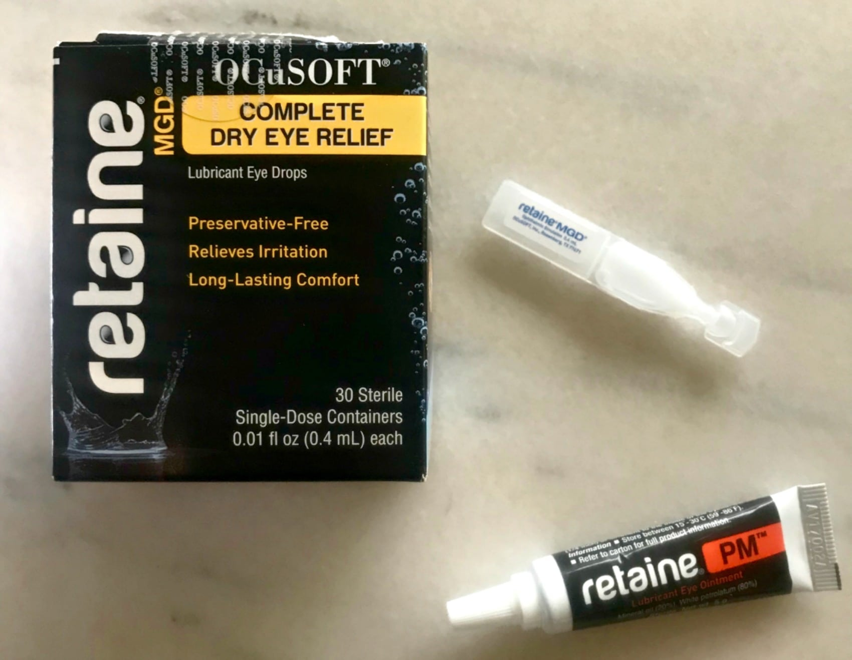 reatine eye gel and eye drops on A Well Styled Life