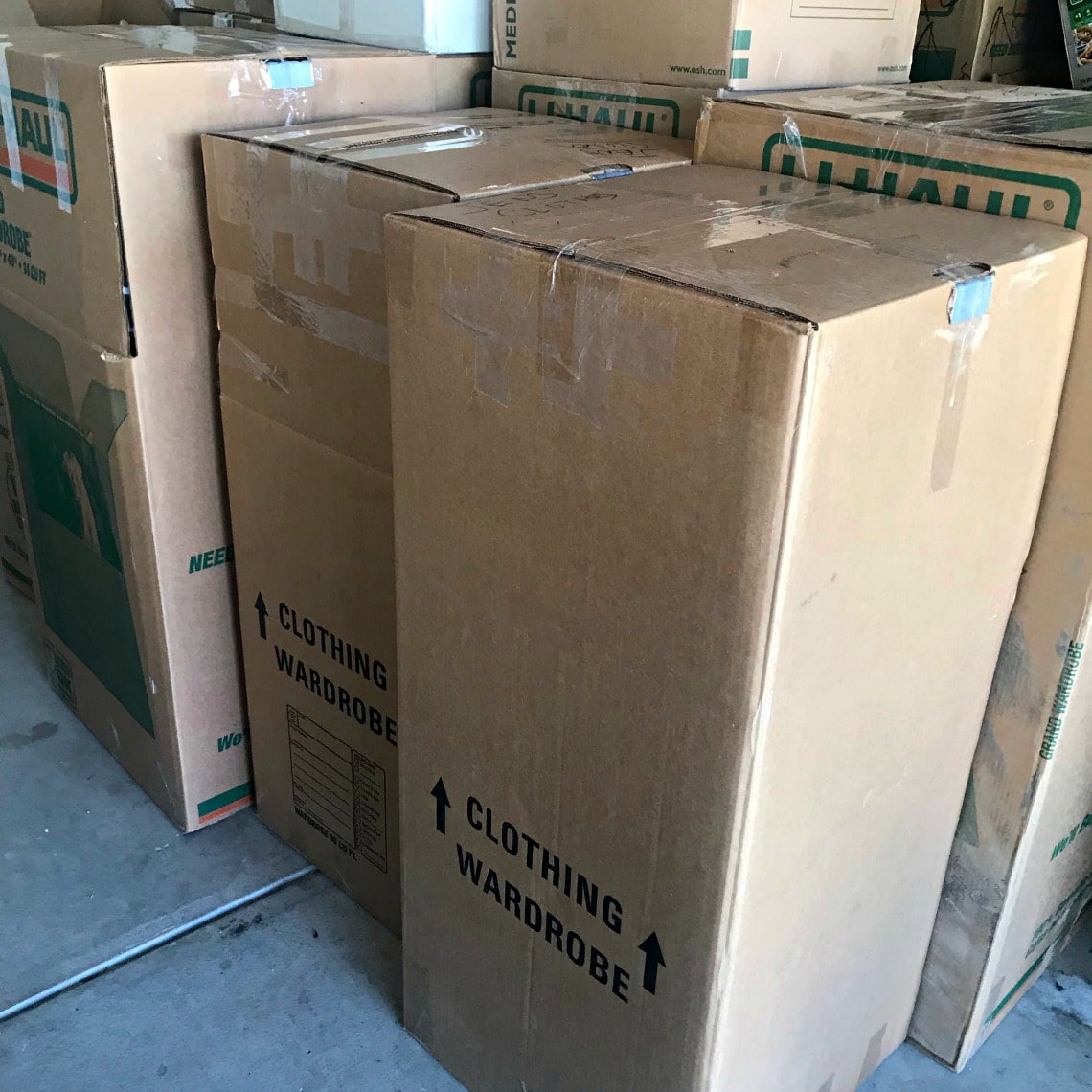 wardrobe moving cartons on A Well Styled Life