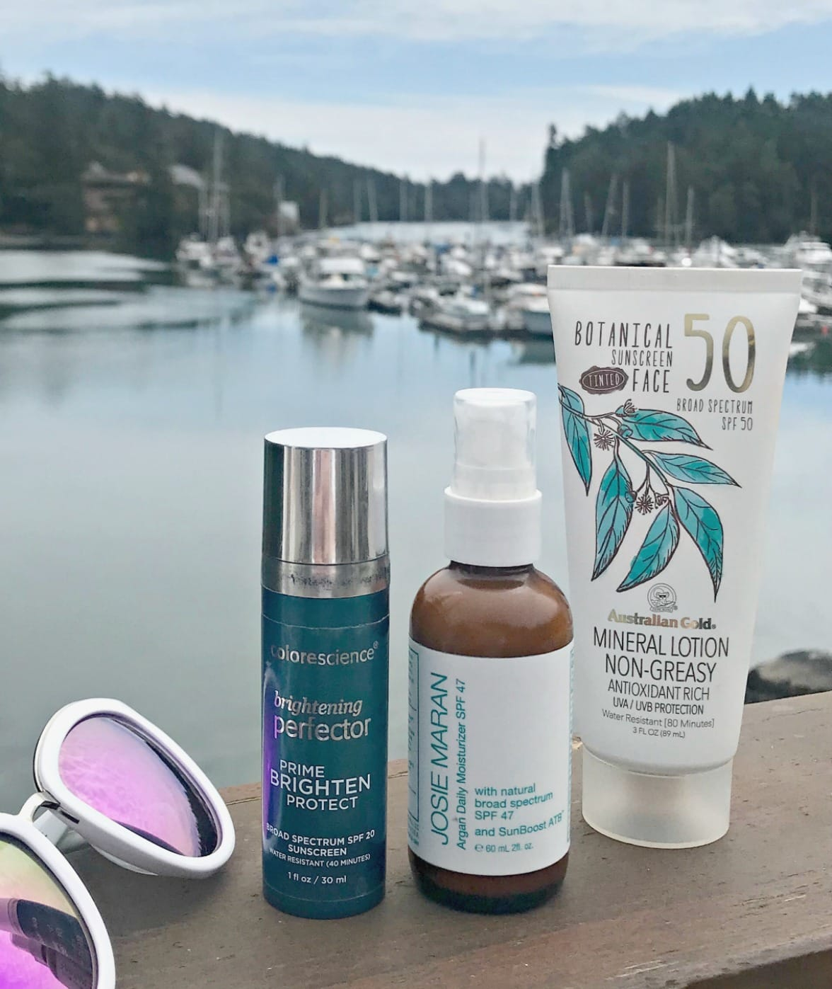 Josie Maran and Australian Gold mineral sunscreen on A Well Styled Life