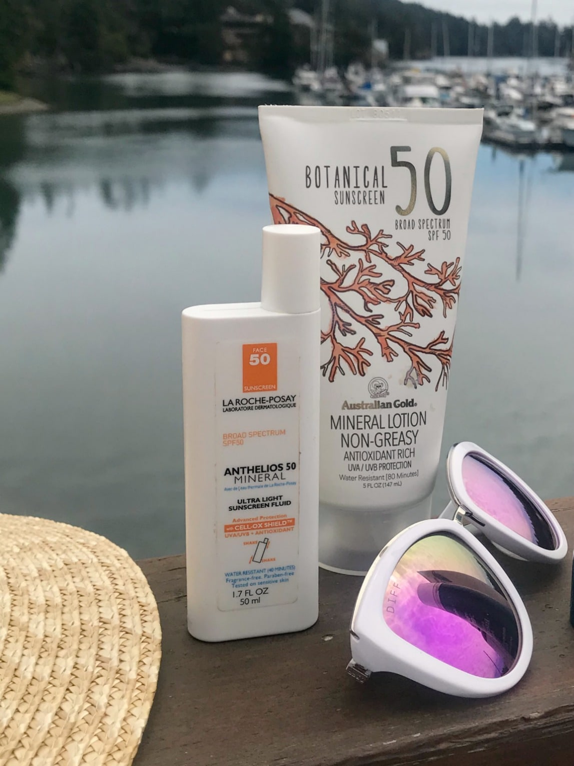 La Roche Posay and Australian Gold sunscreens