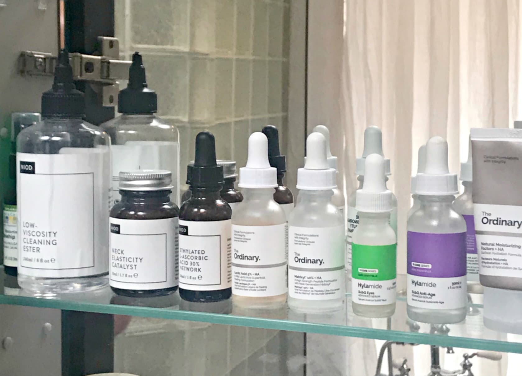 ordinary and Niod skin care products on A Well Styled Life