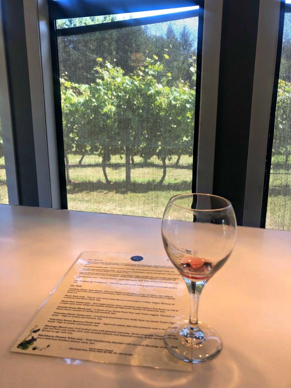 wine tasting at Lerena Vineyards