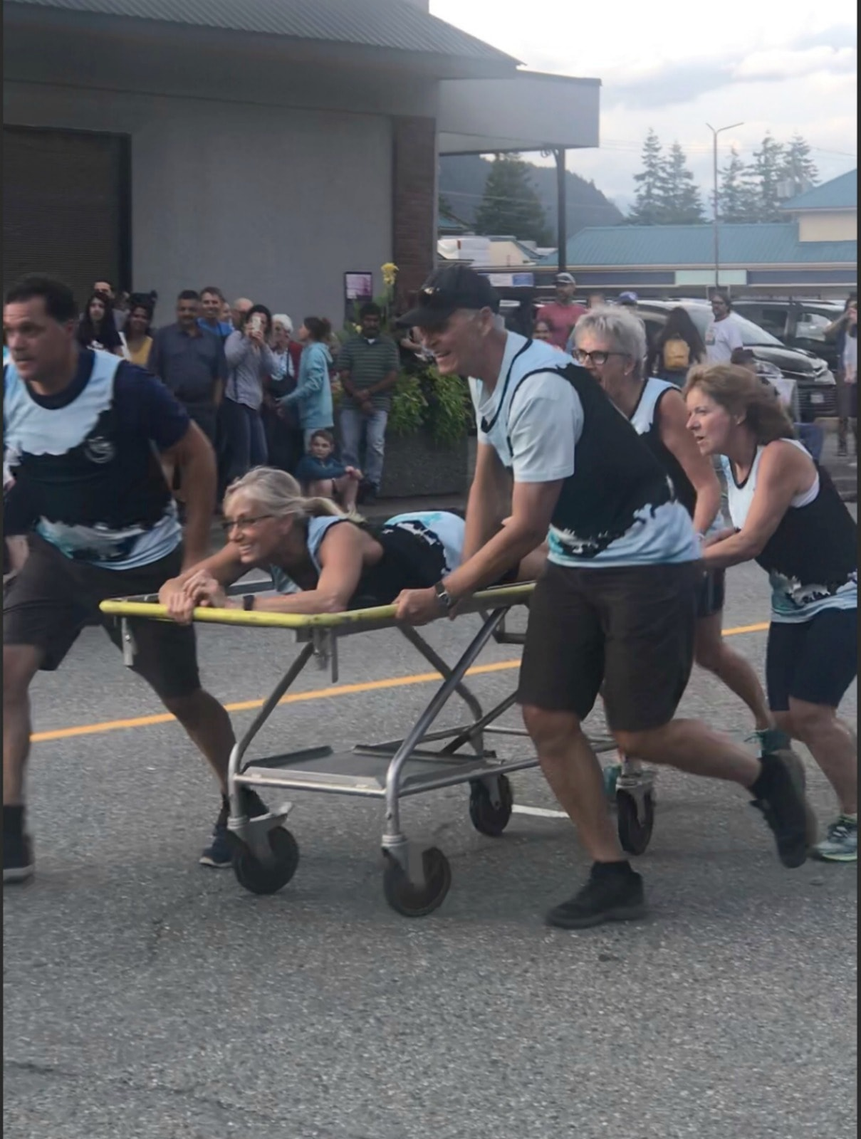 bed race on gurneys on A Well Styled Life