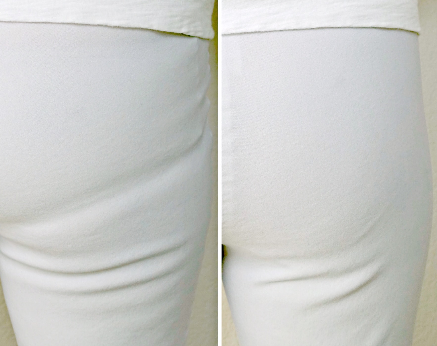 Jennifer Connolly of A Well Styled Life showing comparison of 360 Vanishing Edge panty